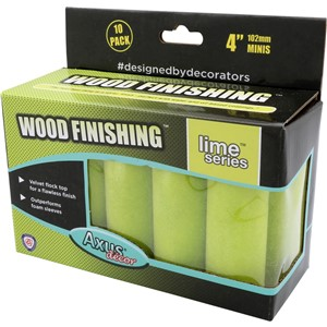 "AXUS DECOR LIME WOOD FINISHING ROLLER 4"" (PACK OF 10)"