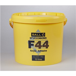 FBALL F44 ACRYLIC ADHESIVE 15LT FOR VNYL,TILES,PVC,CARPET