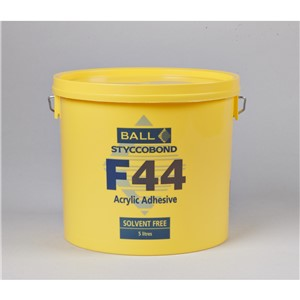 FBALL F44 ACRYLIC ADHESIVE 5LT FOR VINYL,TILES,PVC,CARPET