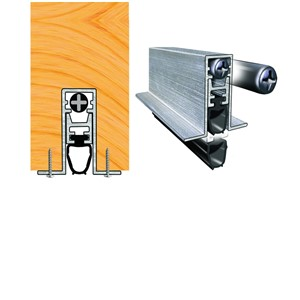 CONCEALEX - A1502 AUTO DROP DOOR SEAL 800MM MILL FINISH