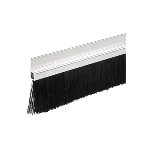 BRUSHSTRIP DRAUGHT EXCLUDER PVC 914MM WHITE