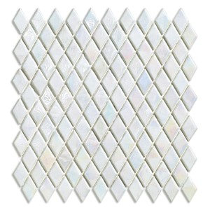 NB17702 SICIS DIAMOND GLASS MOSAIC EXCELSIOR PEARLESCENT WHITE 259X266