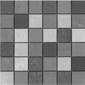 NB18155 GREY MIX PORCELAIN MOSAIC 300X300 SHEET