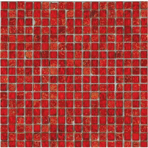 NB1127 CHESHAM RED MIXED MOSAIC SHEET 295X295