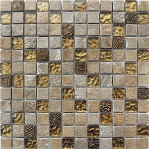 NB1130 CAMDEN STONE MIXED MOSAIC SHEET 295X295